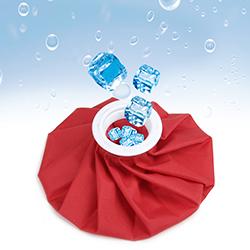 Introducir hielo en bolsa